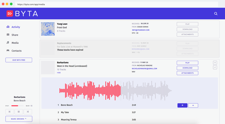 Byta, the private music sharing service for pre-releases and more, raises seed round – TechCrunch